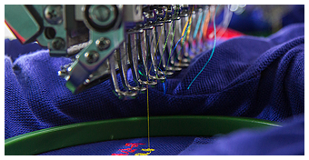 Machine Embroidering Shirt